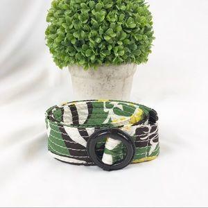 J. Crew 100% silk floral print belt S/M